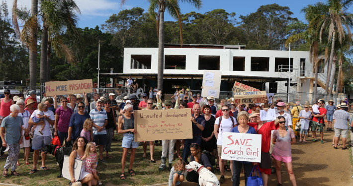 Protest against re-opening of the Pasadena on Saturday 16 December