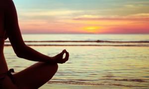 Yoga at sunrise (photo provided by Nadine O'Mara)