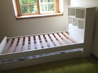 White bedframe
