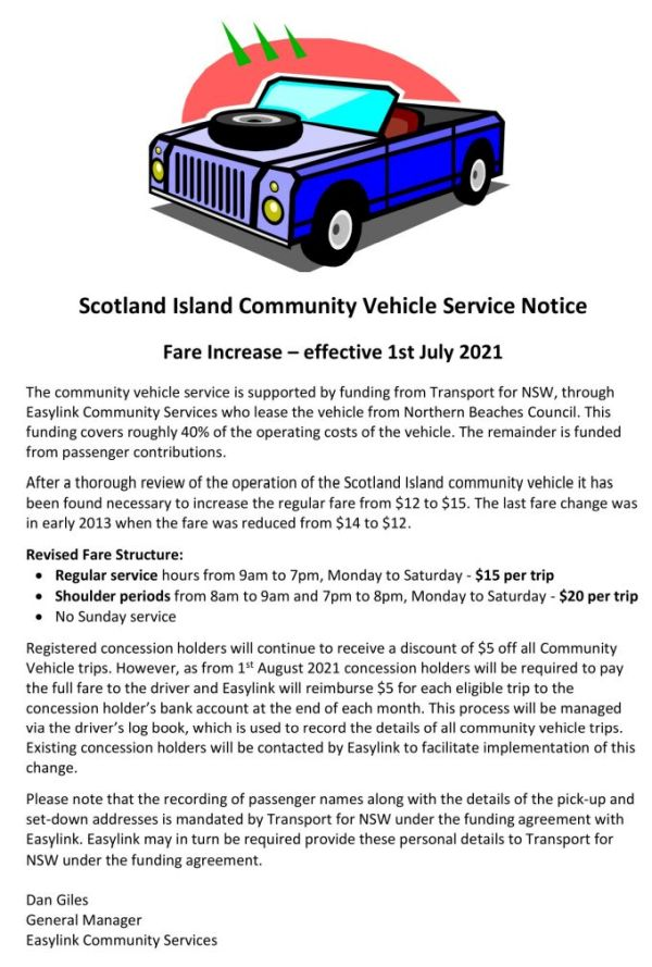 Community vehicle notice