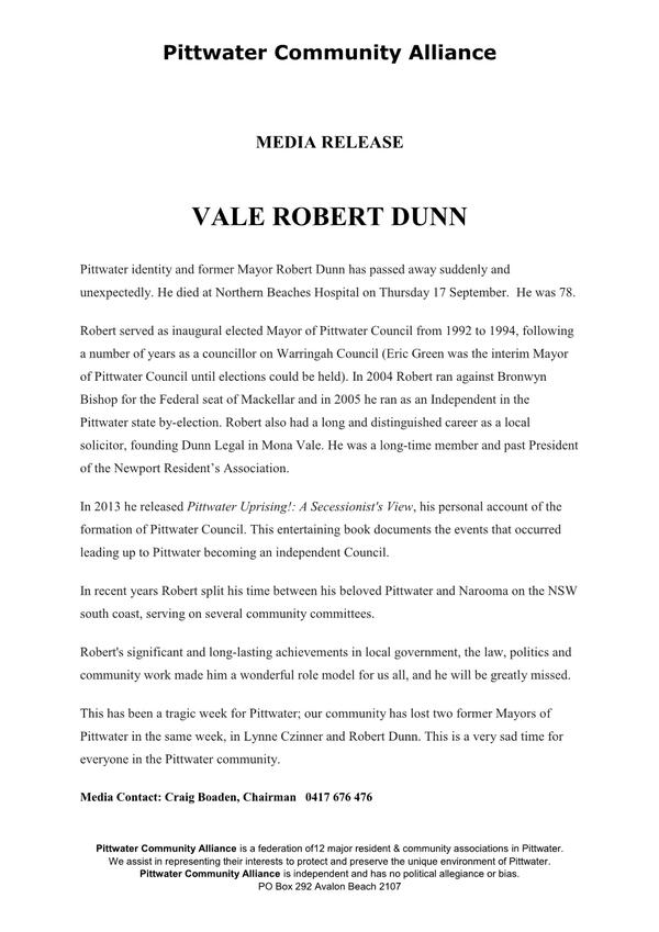 Vale Robert Dunn