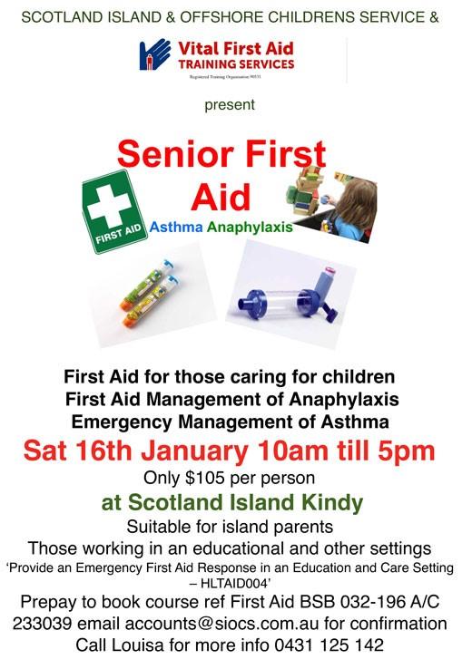 SIOCS First Aid